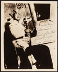 """Movie Posters:Musical, Thomas """"Fats"""" Waller (1930s). Autographed Photo (8"""" X 10""""). Musical.. ..."""