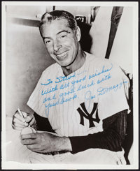 "Joe DiMaggio (1970s). Autographed Convention Photo (8"" X 10""). Sports"