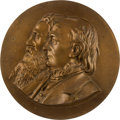 Political:3D & Other Display (pre-1896), Greeley & Brown: High Relief Jugate Wall Plaque....