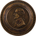 Political:3D & Other Display (pre-1896), Thomas Jefferson: Brass Curtain Tie-Back or Mirror Support....