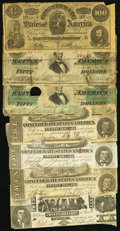 Confederate Notes:Group Lots, CSA - Lot of 30 Confederate Low Grade Notes and Bonds.. ... (Total:30 notes)