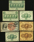 Fractional Currency:First Issue, An Assortment of Fractional Issues.. ... (Total: 7 notes)