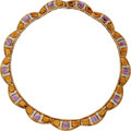 Estate Jewelry:Necklaces, Diamond, Amethyst, Citrine, Gold Necklace. . ...