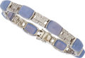 Estate Jewelry:Bracelets, Chalcedony, Diamond, White Gold Bracelet. ...