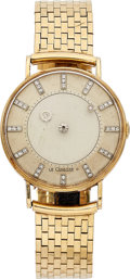 Estate Jewelry:Watches, LeCoultre-Vacheron Constantin Gentleman's Diamond, Gold Mystery Watch. ...