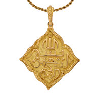 Gold Pendant-Necklace, Mauboussin, French