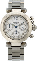 "Estate Jewelry:Watches, Cartier Gentleman's Stainless Steel Pasha ""C"" Chronograph Watch. ..."