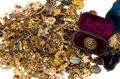 Estate Jewelry:Brooches - Pins, Victorian Diamond, Multi-Stone, Glass, Seed Pearl, Enamel, Gold,Silver, White & Yellow Metal Brooches 4 lbs. ...