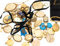 Estate Jewelry:Pendants and Lockets, Diamond, Multi-Stone, Seed Pearl, Enamel, 14k Gold Lockets 11oz....