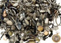Estate Jewelry:Watches, Diamond, Glass, Enamel, Mixed Metals Watch & Parts Lot 8lbs. ...