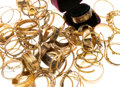 Estate Jewelry:Bracelets, Victorian Diamond, Multi-Stone, Seed Pearl, Enamel, Gold, YellowMetal Bracelets 3lbs. ...