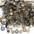 Estate Jewelry:Watches, Diamond, Glass, Enamel, Mixed Metals Watch & Parts Lot 8lbs....