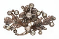 Estate Jewelry:Brooches - Pins, Georgian Diamond, Silver-Topped Gold Brooch. ...