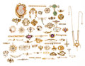 Estate Jewelry:Lots, Diamond, Multi-Stone, Freshwater Pearl, Shell, Gold Jewelry. ... (Total: 59 Items)
