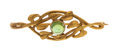 Estate Jewelry:Brooches - Pins, Arts & Crafts Tourmaline, Gold Brooch, Kalo. ...