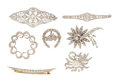 Estate Jewelry:Brooches - Pins, Diamond, Ruby, Cultured Pearl, Platinum, Gold Brooches. ...