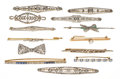 Estate Jewelry:Brooches - Pins, Diamond, Sapphire, Emerald, Platinum, Gold Brooches. ...