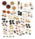 Estate Jewelry:Cufflinks, Diamond, Multi-Stone, Synthetic Stone, Seed Pearl, Enamel,Platinum, Gold, Palladium, Yellow Metal Cuff Links (MatchedPairs)...
