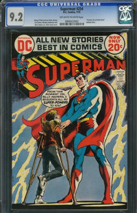 Superman #254 (DC, 1972) CGC NM- 9.2 Off-white to white pages
