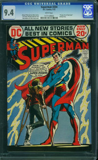 Superman #254 (DC, 1972) CGC NM 9.4 White pages