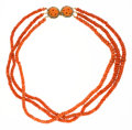 Estate Jewelry:Necklaces, Coral, Turquoise, Gold Necklace. ...