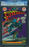 Bronze Age (1970-1979):Superhero, Superman #268 (DC, 1973) CGC VF/NM 9.0 White pages.