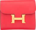 "Luxury Accessories:Accessories, Hermes Bougainvillea Epsom Leather Constance Wallet with GoldHardware. M Square, 2009. Very Good Condition. 5""Wi..."