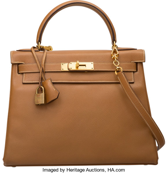 4f4de2ae6797 Hermes 28cm Natural Courchevel Leather Retourne Kelly Bag with