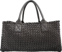 Bottega Veneta Limited Edition Black Intrecciato Nappa Leather Cabat Tote Bag, No. 703 Good to Very Good Condit