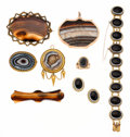 Estate Jewelry:Lots, Victorian Hardstone, Gold Jewelry. ... (Total: 11 Items)