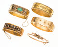 Estate Jewelry:Bracelets, Victorian Turquoise, Seed Pearl, Gold Bracelets. ... (Total: 5 Items)