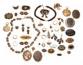Estate Jewelry:Lots, Victorian Hair, Seed Pearl, Enamel, Gold, Yellow & White Metal Mourning Jewelry. ...