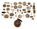 Estate Jewelry:Lots, Victorian Hair, Multi-Stone, Seed Pearl, Enamel, Gold, White &Yellow Metal Mourning Jewelry. ...