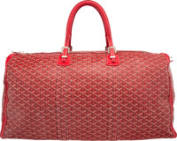 "Goyard 65cm Red Goyardine Canvas Crosiere Bag Very Good to Excellent Condition 25"" Length x 12"" H"