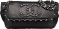 "Luxury Accessories:Bags, Chanel Black Lambskin Leather Pearl Obsession Flap Bag.Excellent Condition. 12"" Width x 7"" Height x 5.5""Depth. ..."