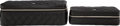 "Luxury Accessories:Accessories, Chanel Set of Two; Black Quilted Lambskin Leather Jewelry Cases.Excellent to Pristine Condition. 8"" Width x 2""Height..."