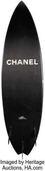 8c403223dec4 Chanel Limited Edition Black Carbon Fiber Surfboard. Excellent | Lot #58013  | Heritage Auctions