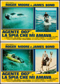 "Movie Posters:James Bond, The Spy Who Loved Me (United Artists, 1977). Italian Photobusta Set of 10 (18.5"" x 26""). James Bond.. ... (Total: 10 Items)"