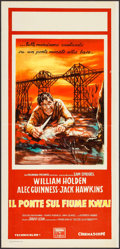 "Movie Posters:War, The Bridge on the River Kwai (Columbia, 1958). Italian Locandina(13.25"" X 27.25""). War.. ..."