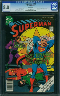 Superman #314 (DC) CGC VF 8.0 White pages