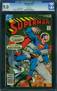 Superman #325 (DC, 1978) CGC VF/NM 9.0 White pages