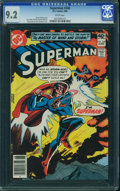 Modern Age (1980-Present):Superhero, Superman #348 (DC, 1980) CGC NM- 9.2 White pages.