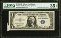 Error Notes:Foldovers, Fr. 1611 $1 1935B Silver Certificate. PMG Choice Very Fine 35EPQ....