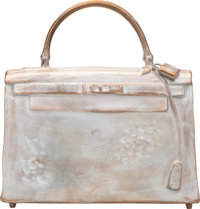 Christian Maas (French, b. 1951) Hermes Kelly Bag Sculpture, Edition of 40, cast circa 1990 Silve