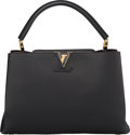 "Luxury Accessories:Bags, Louis Vuitton Black Leather Capucines MM Bag . PristineCondition. 14"" Width x 9"" Height x 5"" Depth. ..."