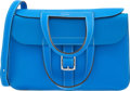 Luxury Accessories:Bags, Hermes 31cm Blue Hydra Clemence Leather Halzan Bag with Palladium Hardware. X, 2016. Excellent to Pristine Condition...