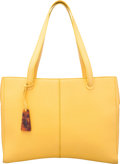 """Luxury Accessories:Bags, Chanel Yellow Leather Tote Bag. Very Good Condition. 14""""Width x 11"""" Height x 2"""" Depth. ..."""