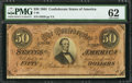 Confederate Notes:1864 Issues, T66 $50 1864 PF-1 Cr. 395....