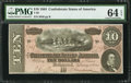Confederate Notes:1864 Issues, T68 $10 1864 PF-21 Cr. 547....