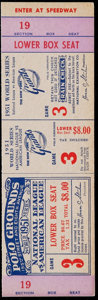 Baseball Collectibles:Tickets, 1951 World Series Game 3 Proof Ticket....